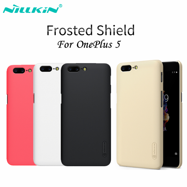 the best attitude 6ca10 9f498 US $7.19 10% OFF|Nillkin OnePlus 5 Case Cover Matte Hard Plastic PC Back  Cover OnePlus Five A5000 Case Protective Shield + Screen Protector Film-in  ...