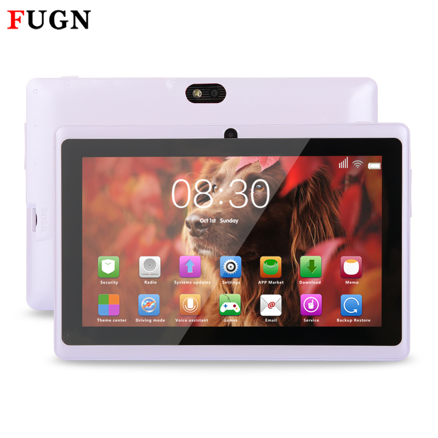 FUGN 7 zoll Original Wifi Tablet Kinder Zeichnung Notebook Quad Core Dual Kameras Android PC Tabletten 512 Mt RAM 16 GB ROM GPS 8 9,7''