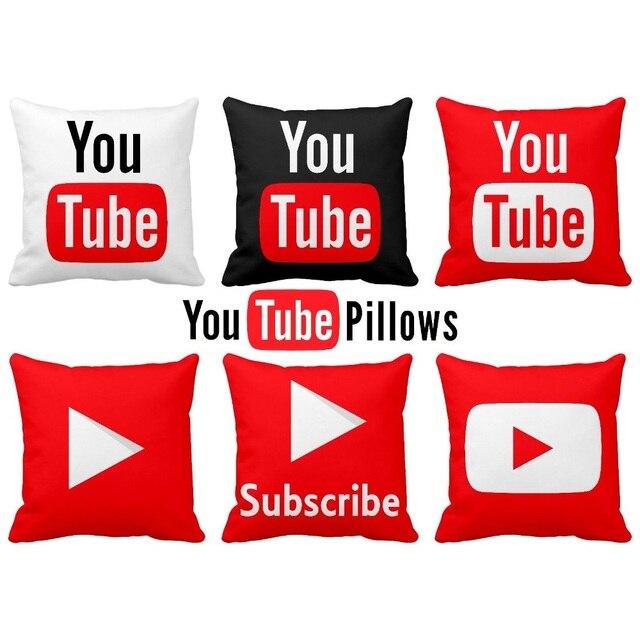 Modern Decorative Pillows Cover Youtube Throw Pillows Case Red ...