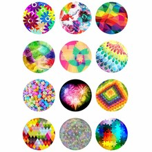 10mm 12mm 14mm 16mm 20mm 25mm 374 12pcs/lot Flower Mix Round Glass Cabochons Jewelry Findings 18mm Snap Button Charm Bracelet