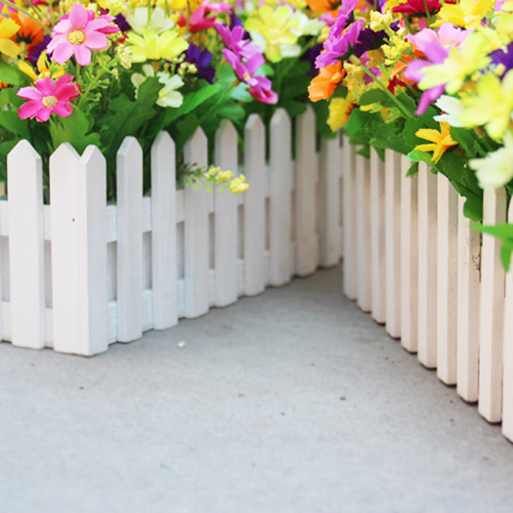 Artificial flower vase wooden flower container pots wood fence artificial flower vase wooden flower container pots wood fence planter tray gardening white in vases from home garden on aliexpress alibaba group floridaeventfo Images