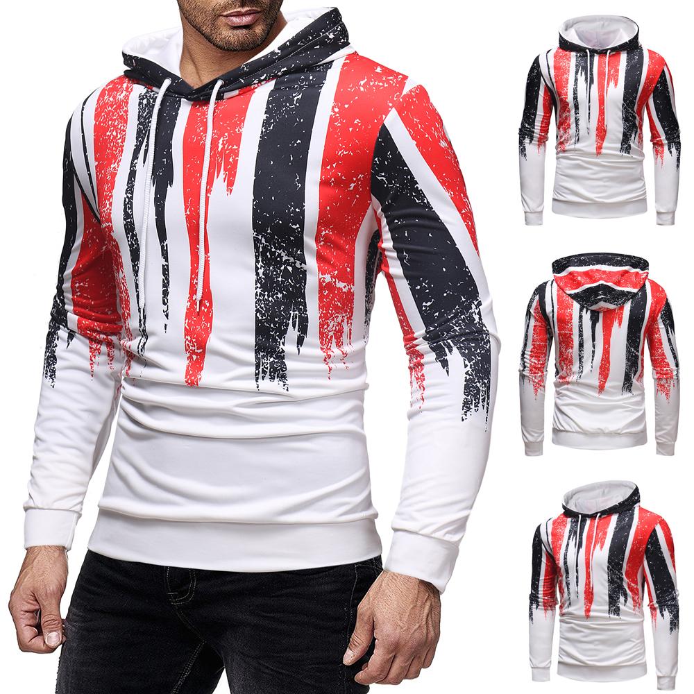987278c0662a 2018 New Men s Fashion Slim Fitness Long Sleeve Print Hoodie Hip-hop  Skateboard Thrasher Sweatshirts Pullover Tops