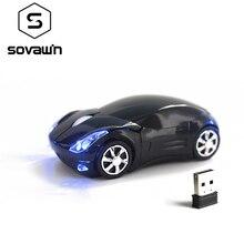 Sovawin светодиодный Беспроводная мини-мышь автомобиль Форма приемник usb-мыши 1200 Точек на дюйм 2,4 г игровая оптическая электронная мышь для ПК, ноутбука, компьютера