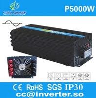 Заводская распродажа, чистая синусоида инвертор 1 фазы от сети, 5000 Вт солнечный инвертор 12 В 230 В