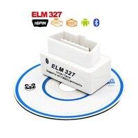 Useful SUPER MINI ELM327 Bluetooth OBD2 V2 1 Scanner Bluetooth White Smart Car Diagnostic Tool ELM