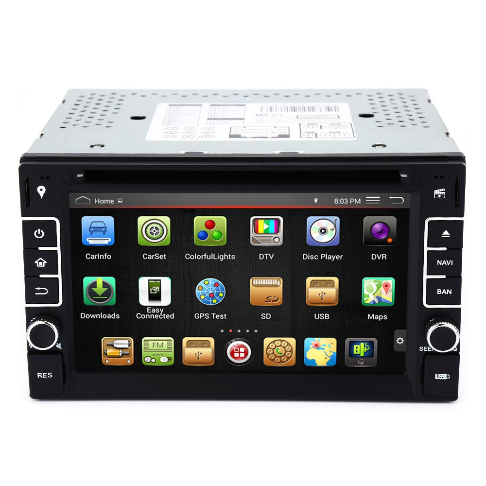 Newest 2-DIN 6.2 Inch Android Car Video DVD Player Double Din Car DVD Bluetooth FM Wifi 3G GPS Car DVD Player GPS Navigation
