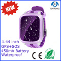 450mA big battery Kid Watch GPS 1.44 inch 128*128  with SOS two ways conversation watch phone reject stangers phone pk Q50 S866