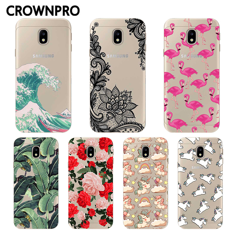 CROWNPRO Soft TPU FOR Coque Samsung Galaxy J5 2017 Case Cover J530F J530 Phone Back Protector FOR Capa Samsung J5 2017 Case electronics