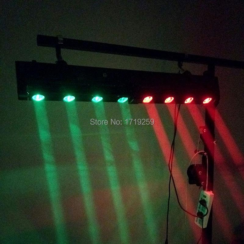 LED Bar Beam Moving Head Light RGBW 4x12W+4x12W Perfect for Mobile DJ, Party, nightclub SHEHDS Stage Lighting цена