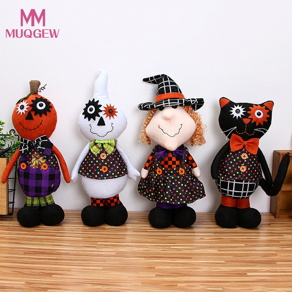 creative halloween decoration plush pumpkin girl dolls children toy halloween birthday gift home decor halloween party supplies
