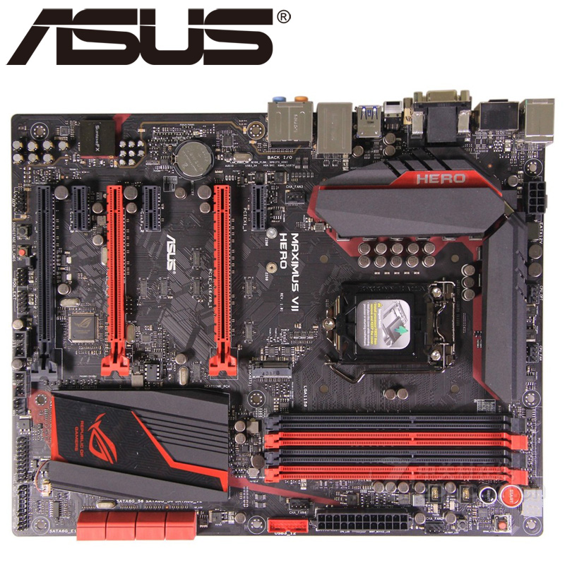 Asus MAXIMUS VII HERO Desktop Motherboard Z97 Socket LGA 1150 i3 i5 i7 DDR3  32G ATX UEFI BIOS Original Used Mainboard Hot Sale