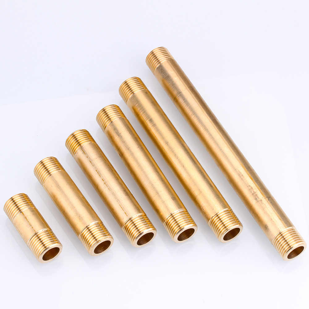 All-copper external wire direct G1/2 BSP extension pipe copper pipe external tooth extension threaded copper joint fittings