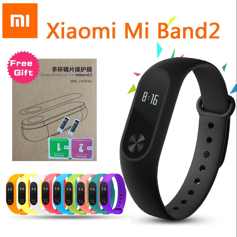 цены на Xiaomi Mi Band 2 Smart Bracelet Smartband Miband 2 Sport Fitness Activity Tracker Pulseira Heart Rate Monitor With OLED Touchpad