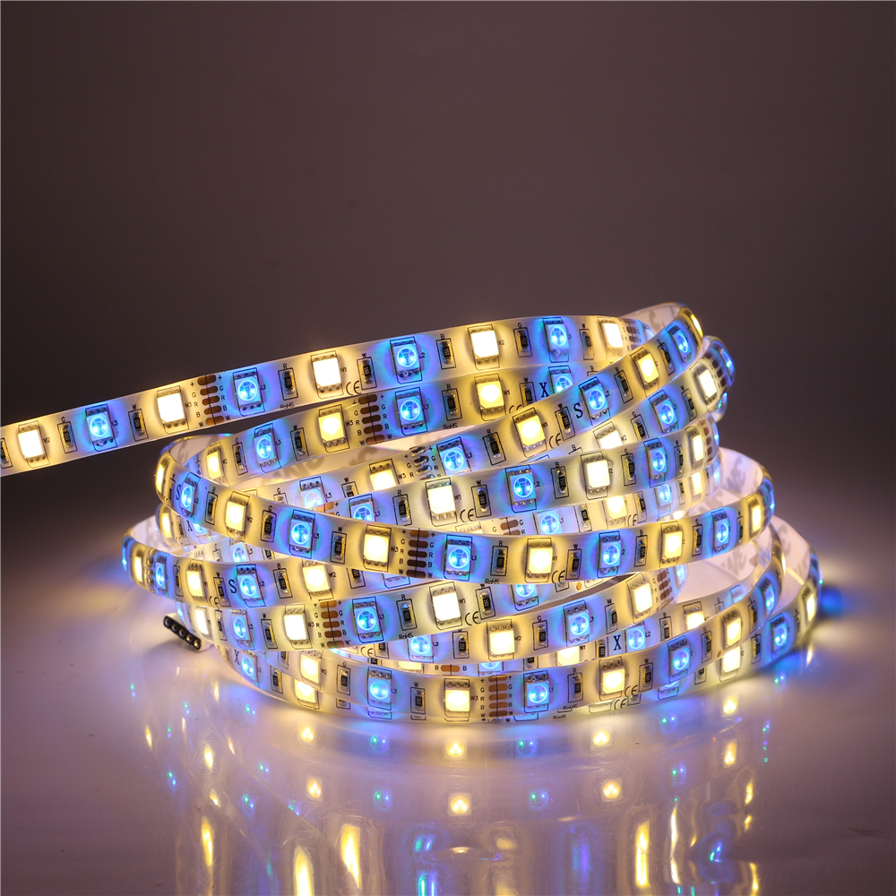 5M LED Strip Light 5050 RGBW RGBWW DC12V 60ledsm RGB+White  RGB+Warm white Flexible LED Stripe Light Better Than SMD 5630 3528