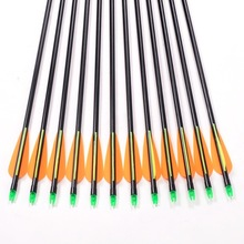 6Pcs/lot Fiberglass Arrow 80cm Archery Hunting Nock Proof Fiberglass Arrow Steel Point 30-80lbs For Compound/Long Bow Arrow