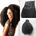 Afro Kinky Curly Clip in Hair Extension Clip In Human Hair Extensions 100g 120g 140g Brazilian Virgin Natural color Hair 9pcs