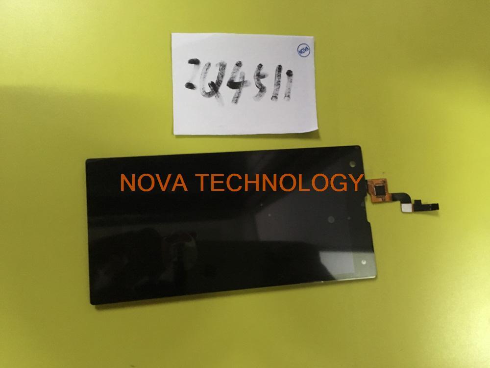 imágenes para 100% Probado IQ 4511 el Panel Del Digitizador de piezas de Repuesto Para Fly IQ4511 Táctil + Ensamblaje de la Pantalla LCD; con Número de seguimiento