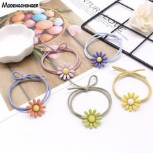 High Elastic Hair Tie Colorful Daisy Band For Girls Lovely Rope Headband Scrunchies Sweet Hairgrip Accessories