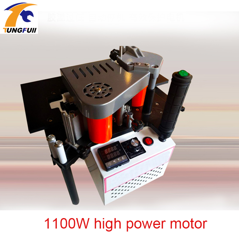1100W High Power Small Manual Edge Banding Machine Double Sided Adhesive Portable Edge Banding Strip Wood
