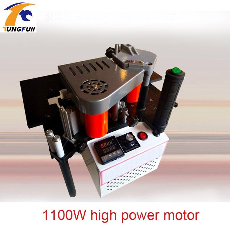 1100 w de alta potência pequena borda manual máquina de borda de borda de borda dupla face adesiva portátil faixa de borda máquina de borda de madeira