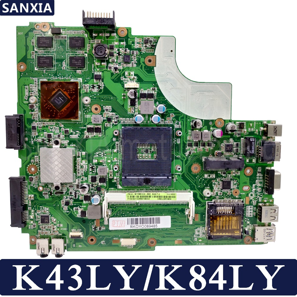 KEFU K43LY Laptop motherboard for ASUS K43LY K84LY K43L Test original mainboard AMD 1GB