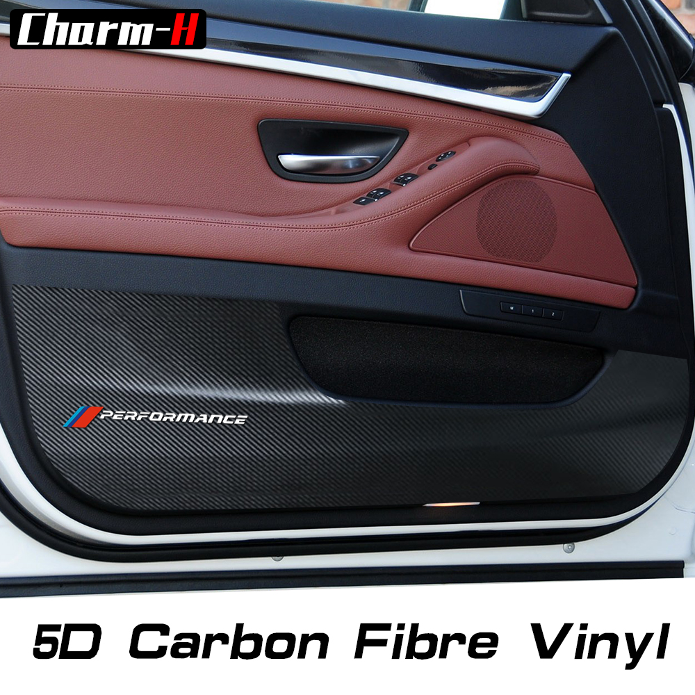 4X 5D Carbon Fiber Car Door Anti kick pad Sticker Door Protection Side Edge Film Protector for BMW e90 f30 f31 f10 f11 x3x4x5x6