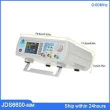 цена на FreeShpping JDS6600-60M Signal Generator Digital Control Dual-channel DDS Function Signal Generator Frequency Arbitrary Waveform