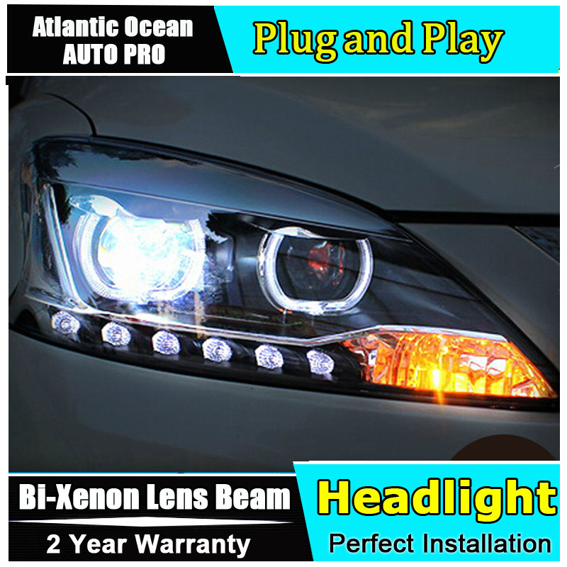 Car Styling LED Head Lamp for Nissan Almera headlights 2013 Sentra led headlight Sylphy drl HID KIT LED Bi-Xenon Lens low beam hireno headlamp for mercedes benz w163 ml320 ml280 ml350 ml430 headlight assembly led drl angel lens double beam hid xenon 2pcs