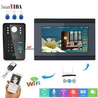 SmartYIBA Wifi Intercom Door Phone 7 Inch TFT LCD Wired Video Doorbell RFID Password Unlock APP Control Door Intercom Smart Home