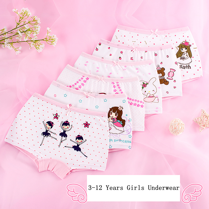 Good Quality Girls Underwear Boxer Cotton Kids Cartoon Panties Children Princess Underwear Baby Underpants 2pcs/lot And 4pcs/lot