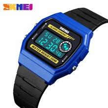 SKMEI Women Fashion Sport Watch Lover Couple Wristwatch Stopwatch Alarm Digital Waterproof PU Strap Relogio Feminino