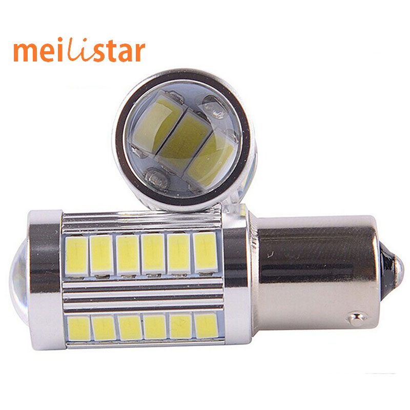 1pcs 1156 BA15S P21W 33 led 5630 5730 smd Car Tail Bulb Brake Lights auto Reverse Lamp Daytime Running Light red white yellow