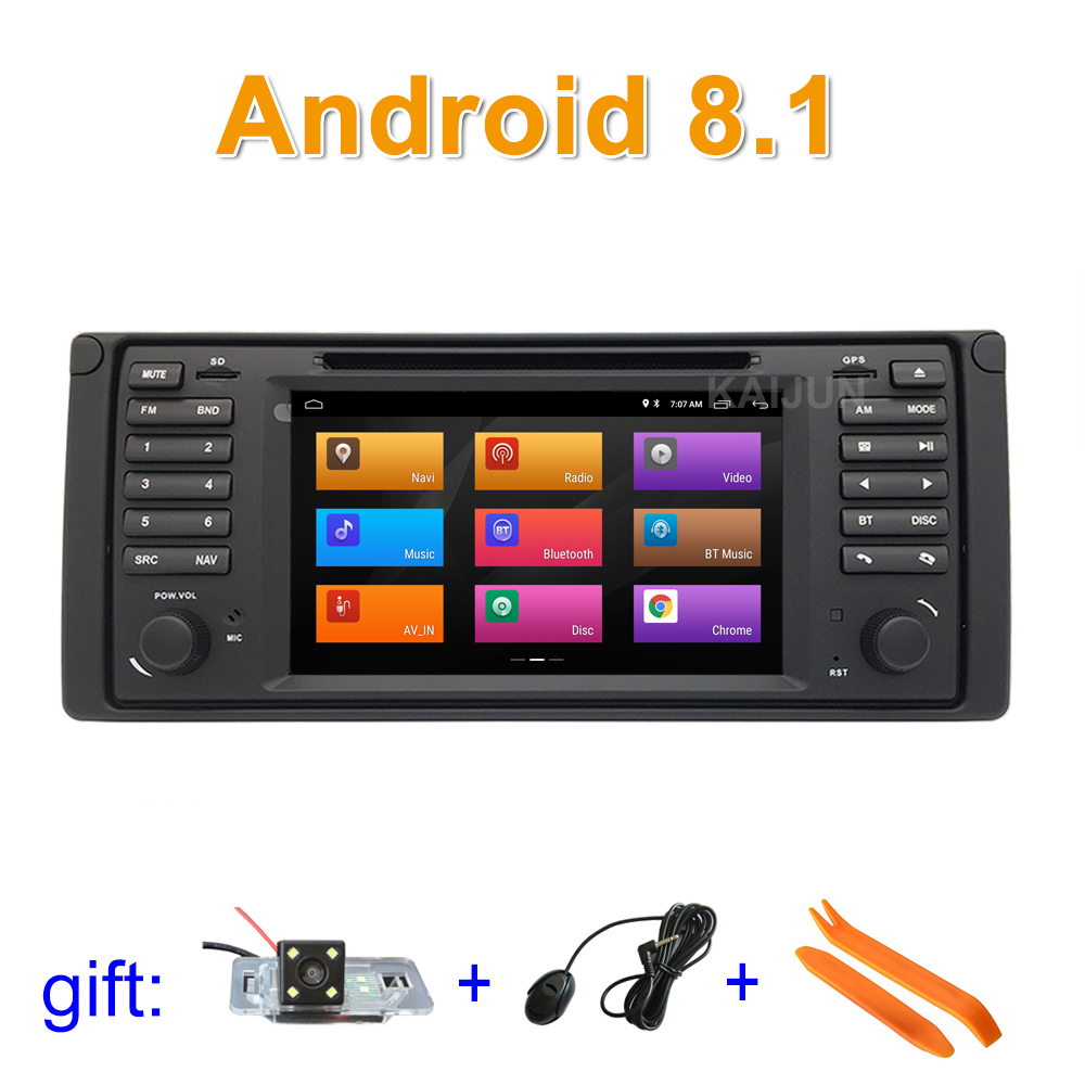 Android 8.1 Voiture DVD Lecteur multimédia Stéréo pour BMW E39 avec WiFi BT Radio GPS Navigation
