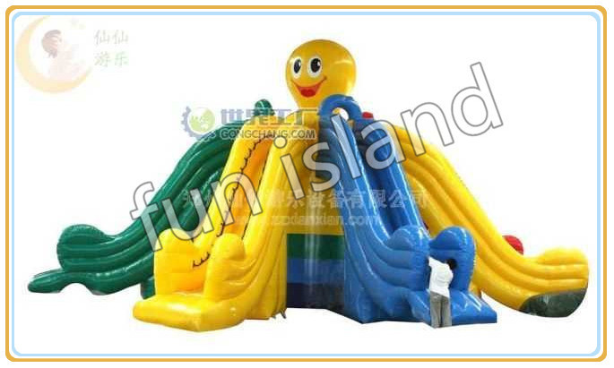 hot sale giant  octopus style inflatable water slide with a pool from China 6 4 4m bounce house combo pool and slide used commercial bounce houses for sale