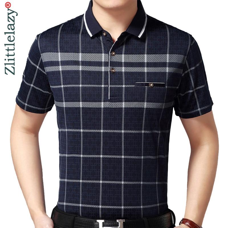 2019 hot real pocket bodybuilding short sleeve   polo   shirt men plaid   polos   summer pol tee shirts mens dress poloshirt jersey 2088