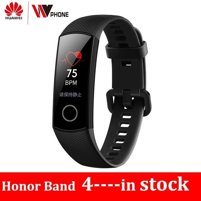 Original Huawe Honor Band 4  Smart Bracelet 50m Waterproof Color ouch screen Heart Rate Sleep Snap Smart Wristband