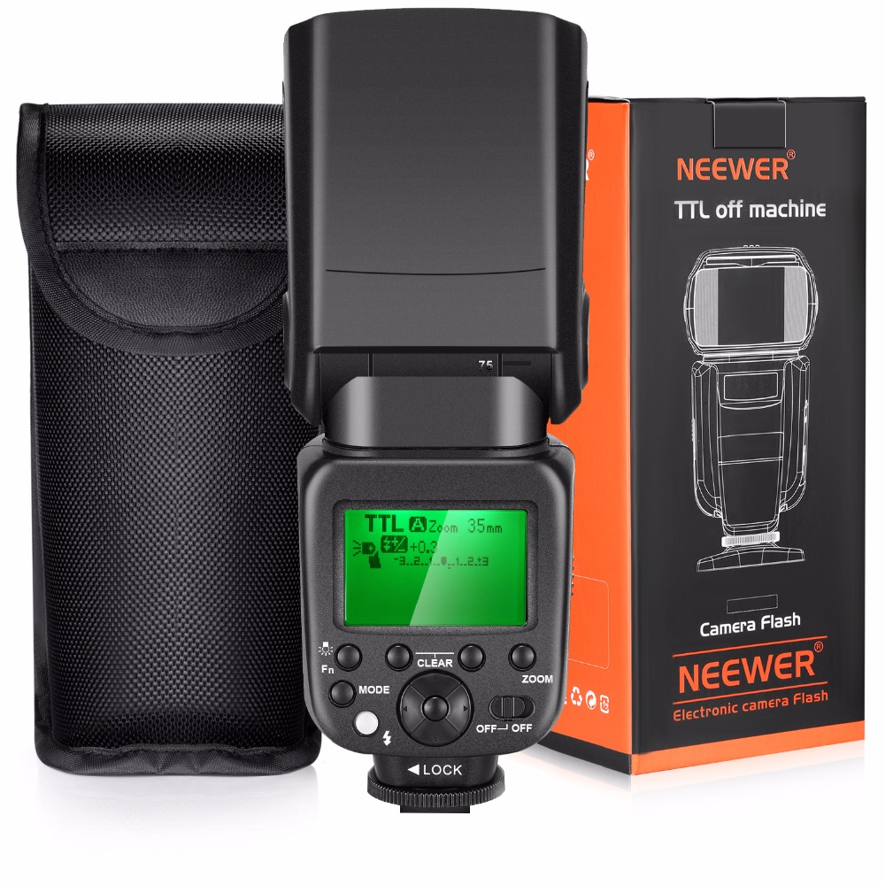 Neewer 2.4G HSS 1/8000s TTL GN58 Wireless Master Slave Flash Speedlite for Sony A7 A7R A7S A7II I etc with Hard Diffuser (NW630) neewer 2 4g wireless 1 8000s hss ttl master slave flash speedlite kit for sony