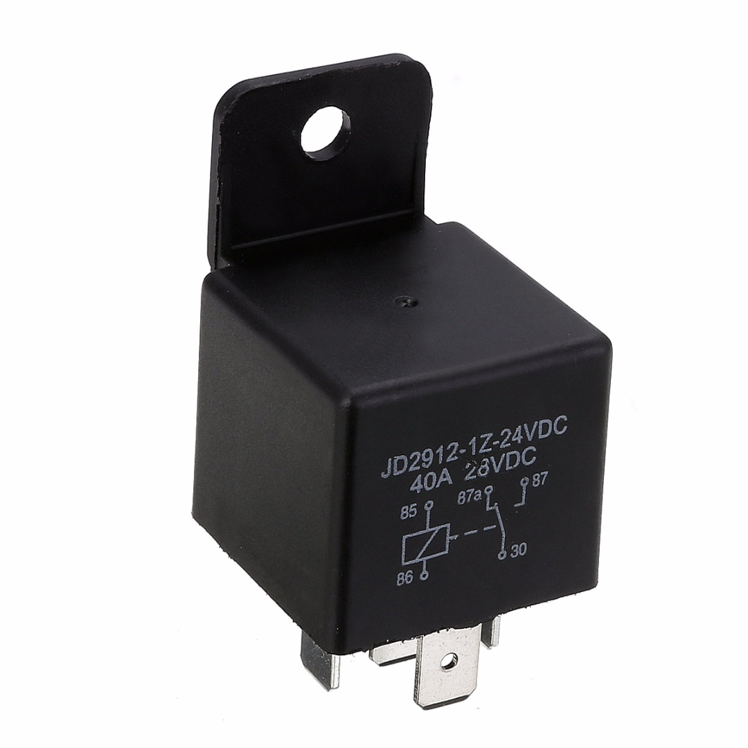 5 Pin 40A Waterproof Car Relay Long Life Automotive Relays Mayitr Normally Open DC 12V/24V Relay for Head Light Air Conditioner
