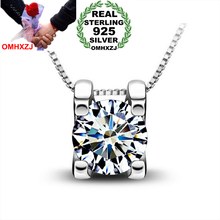 OMHXZJ Wholesale jewelry  four Paw setting woman star kpop AAA zircon 925 sterling silver NO Chain Necklace pendant Charms PE08