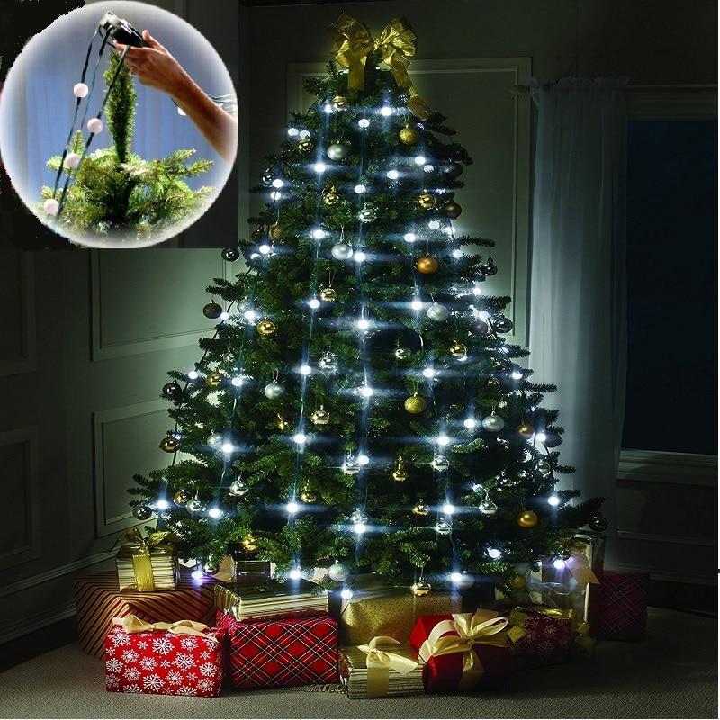 Multicolor 48 64 LED Garland Christmas String Lights Fairy Light Decoration For Wedding Holidays Gerlyanda Christmas Tree Decor