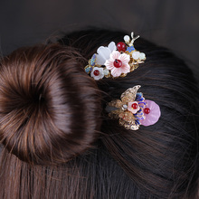 Handmade Pretty Butterfly Hair Sticks Women Hairwear Chinese style Handicrafts Accessories Ancient Costume Head Ornaments