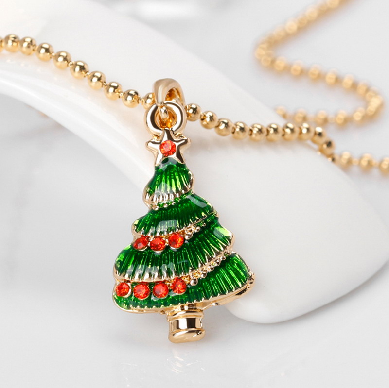 Necklaces Jewelry Crystal Rhinstone Merry Christmas Charms Cute Christmas  Tree Couple Pendants Chocker Necklace For Kids Gift In Pendants From  Jewelry ...