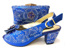 8fadf3d71ba African aso ebi wedding new royal blue italian shoes and bag low heel with  size 37-43 hand made design shoes and bag SB8244-6