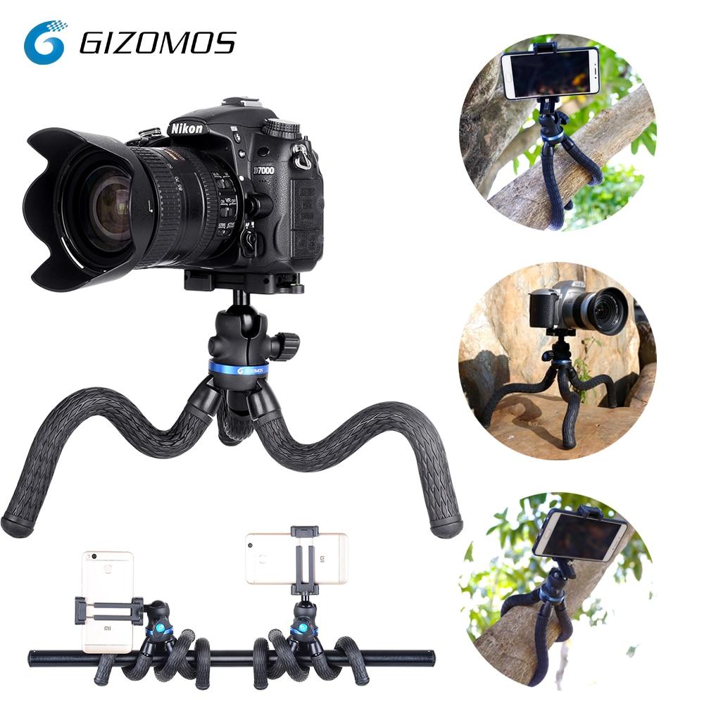 GIZOMOS GP-08ST 2 In 1 Mini Travel Outdoor Gorillapod Portable Tripode Flexible Octopus Tripod For Phone Digital DSLRs And GoPro