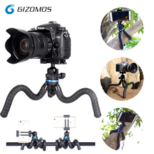GIZOMOS GP-08ST 2 в 1 Мини Путешествия Открытый gorillapod переносной штатив Гибкий Осьминог штатив для телефона цифровой зеркалок и GoPro