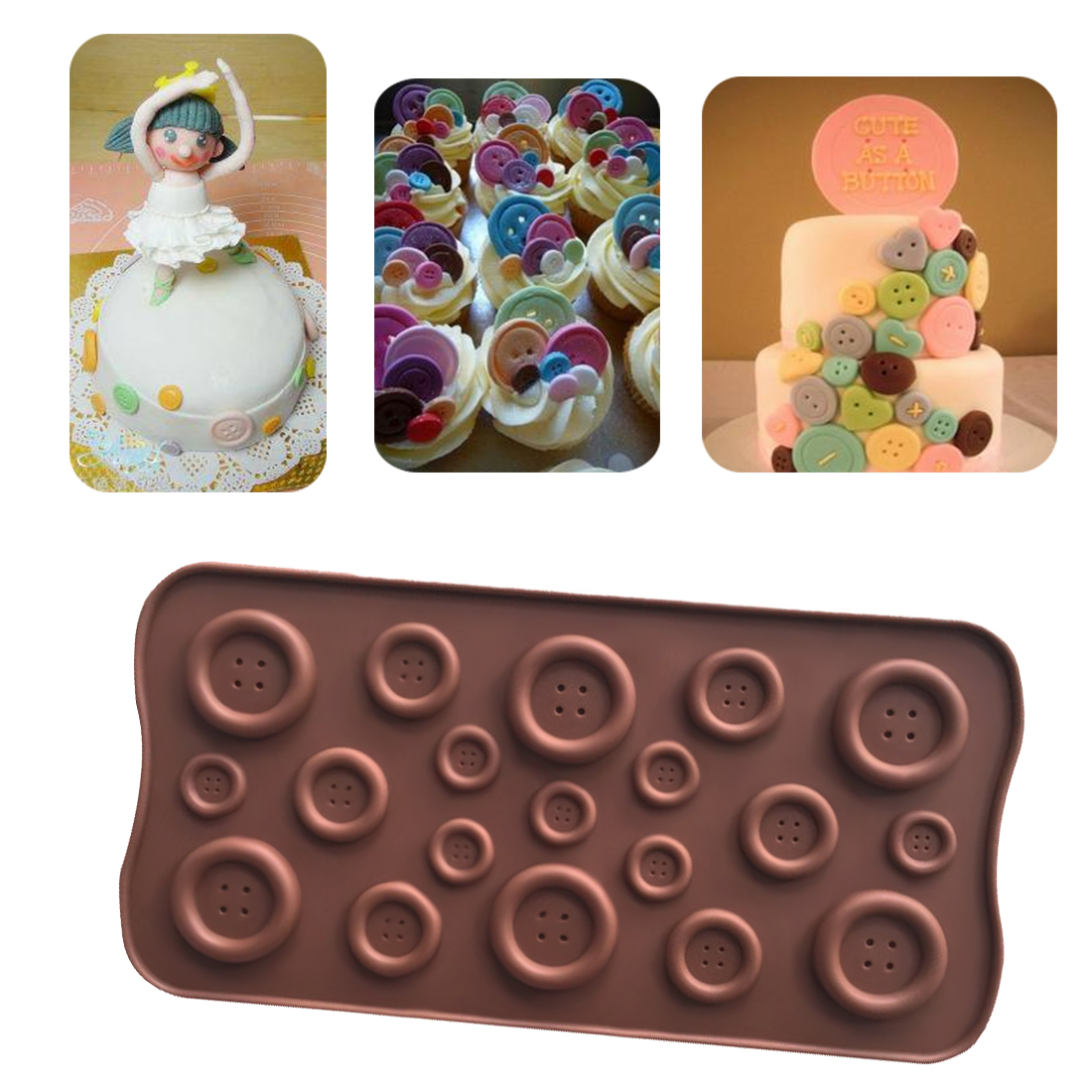 4-Round Cake Mold Soap Mold Mold Silicone Mould For Candy Chocolate Cookie Craft