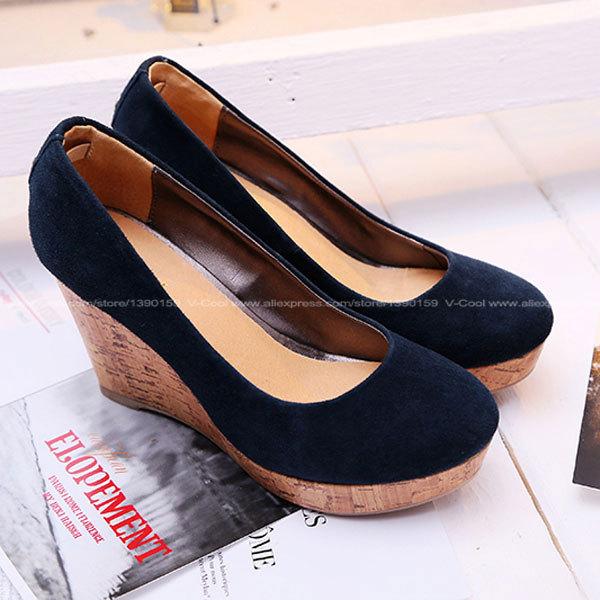 Zapatos azules de otoño para mujer 1Obf6x