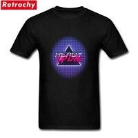 Streetwear RUL Cyberpunk Tee Top For Men Short Sleeve Cotton Spandex Custom Design Printed Tee Shirt