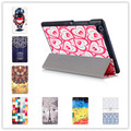 Fashion Colored Drawing 10 colors Pu Leather Stand Case Cover for lenovo tab 3 TB3-850F 850M \ Tab 2 A80-50F tablet case