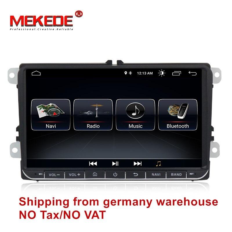 MEKEDE livraison gratuite Android 8.1 Voiture radio stéréo GPS Lecteur Pour Volkswagen B6 B7 Passat golf Polo Passat CC de voiture multimédia